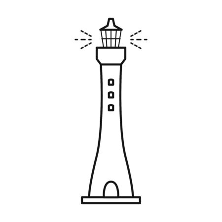 Lighthouse vector icon.Line vector icon isolated on white background lighthouse.