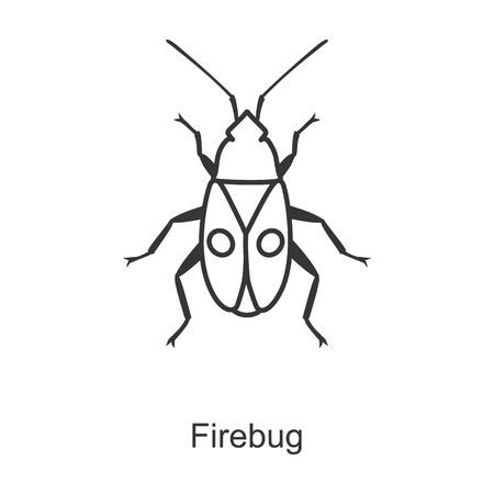 Firefly vector icon.Line vector icon isolated on white background firefly. Vettoriali