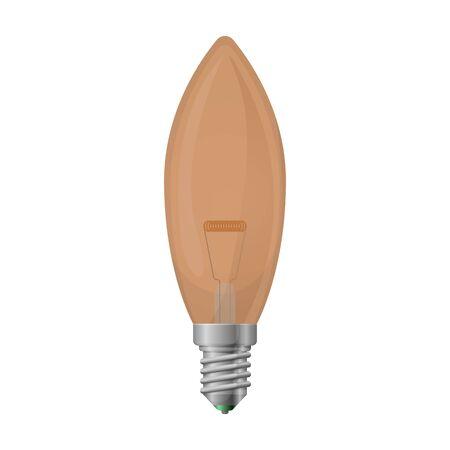 Halogen bulb vector icon. Realistic vector icon isolated on white background halogen bulb. Ilustração