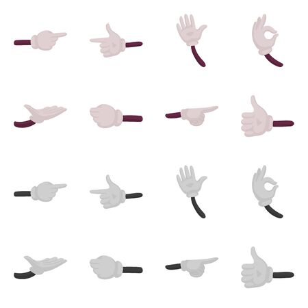 Vector illustration of animation and gestures sign. Set of animation and information stock vector illustration. Ilustrace