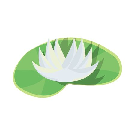 Isolated object of flower and lotus symbol. Collection of flower and leaf stock vector illustration. Ilustração