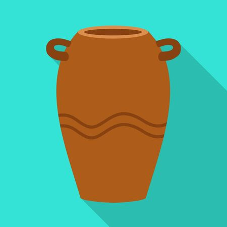 Vector design of vase and ceramic icon. Graphic of vase and brown stock vector illustration.