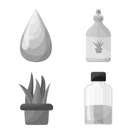 Vector illustration of product and botany icon. product and ingredient vector icon for stock.