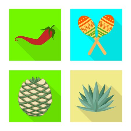 Vector illustration of vacation and tropical symbol. Set of vacation and travel stock vector illustration. Stock Illustratie