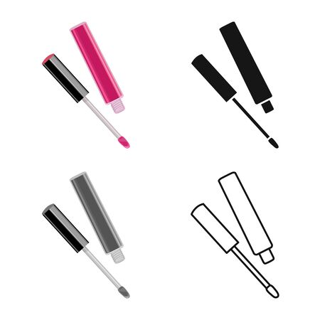 Vector illustration of lipstick and pomade icon. Web element of lipstick and gloss stock vector illustration. Stock Illustratie