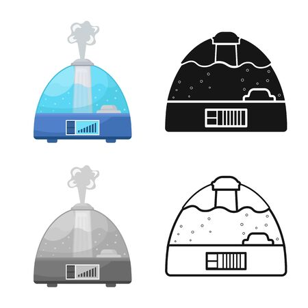 Vector illustration of humidifier and machine icon. Graphic of humidifier and moisturizer stock vector illustration.