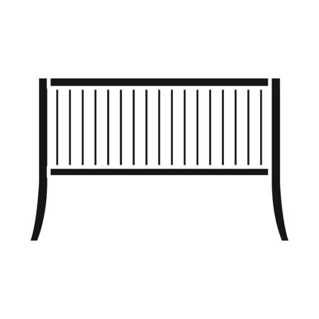 Vector design of bench and furniture sign. Web element of bench and seat stock symbol for web.