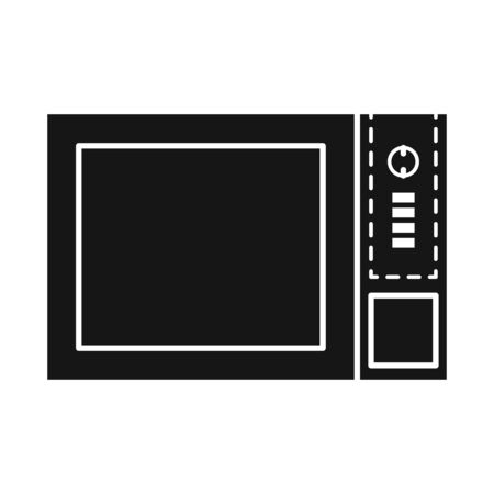 Isolated object of oven and convection symbol. Web element of oven and microwave vector icon for stock. Stock Illustratie