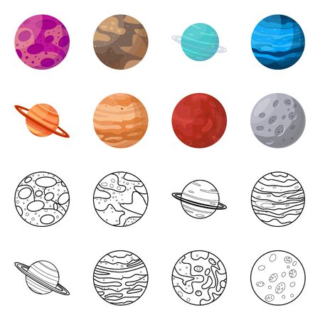 Vector design of galaxy and orbit Collection of galaxy and cosmos stock vector illustration.