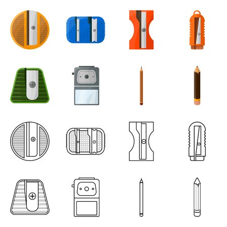 Vector design of equipment and accessory sign. Collection of equipment and stationery vector icon for stock.