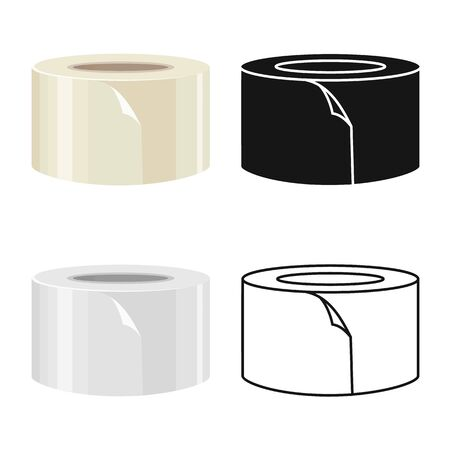 Vector design of scotch and tape . Graphic of scotch and roll vector icon for stock.
