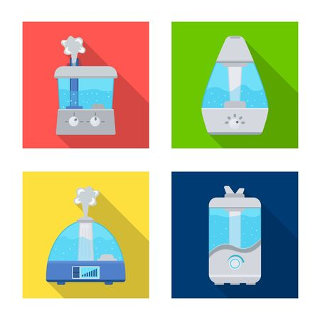 Vector illustration of equipment and humidify icon. Set of equipment and technology vector icon for stock.