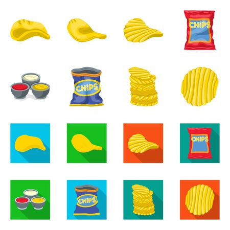 Vector illustration of farm and fast icon. Collection of farm and ingredient vector icon for stock.