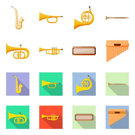 Isolated object of concert and classical sign. Collection of concert and equipment vector icon for stock.