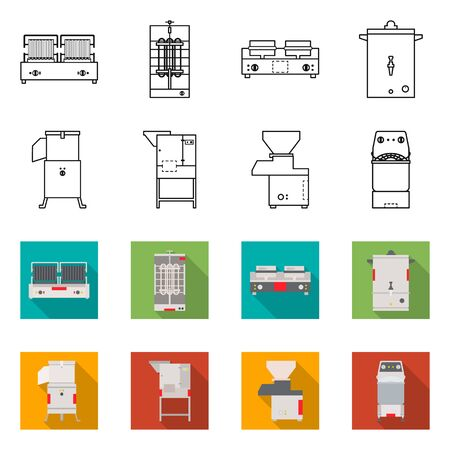 Vector design of domestic and appliances sign. Collection of domestic and furniture vector icon for stock.