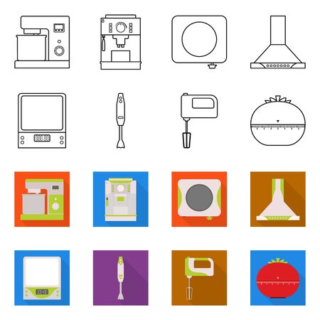 Isolated object of tool and equipment symbol. Set of tool and domestic stock symbol for web.