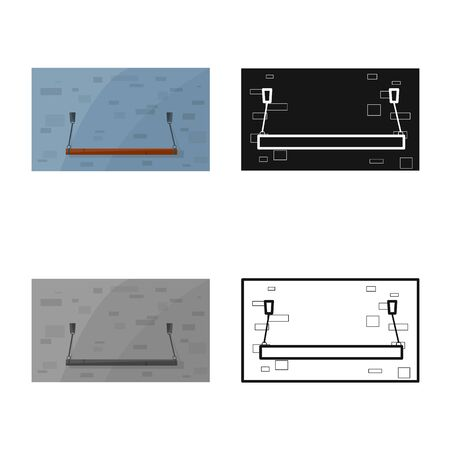 Vector design of plank-bed and bed icon. Web element of plank-bed and bunk stock symbol for web.