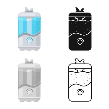 Isolated object of humidifier and machine sign. Web element of humidifier and moisturizer vector icon for stock. Stock Illustratie