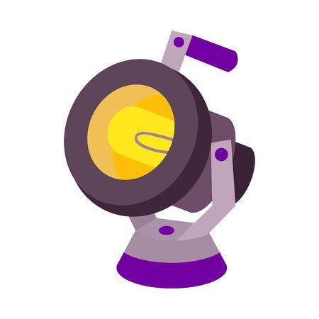 Vector illustration of spotlight and equipment icon. Web element of spotlight and bright stock vector illustration.