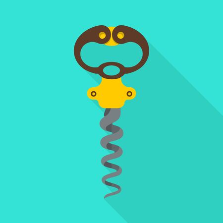 Vector illustration of corkscrew-spin and steel icon. Web element of corkscrew-spin and open stock symbol for web.