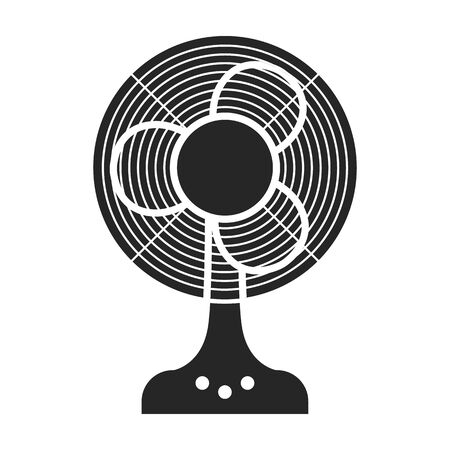 Fan vector icon.Black vector logo isolated on white background fan.