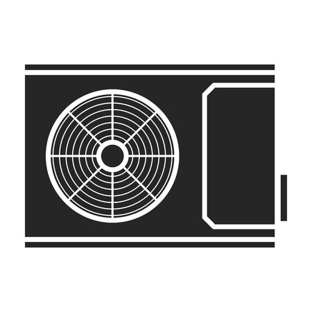 Ventilation vector icon.Black vector icon isolated on white background ventilation .