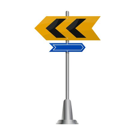 Street arrow vector icon.Cartoon vector icon street arrow isolated on white background . Illusztráció