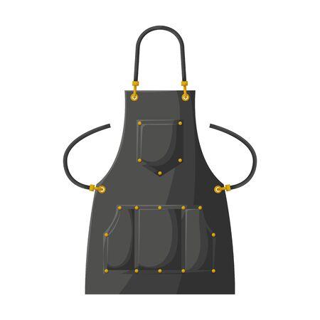 Kitchen apron vector icon.Cartoon vector icon isolated on white background kitchen apron. Illustration