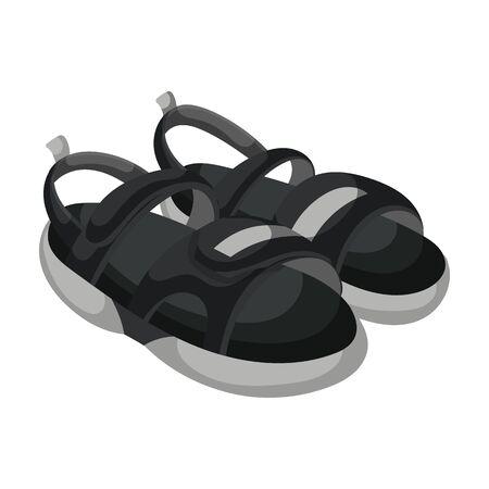 Ikona wektor sandałów. Ikona wektor kreskówka na białym tle na białym tle sandały.