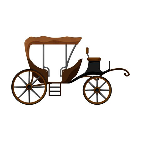 Vintage carriage vector icon.Cartoon vector icon vintage carriage isolated on white background . Векторная Иллюстрация