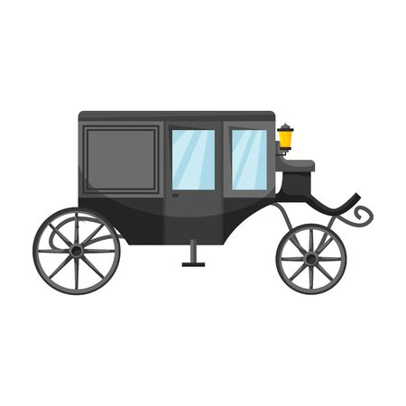 Vintage carriage vector icon.Cartoon vector icon vintage carriage isolated on white background . Vecteurs