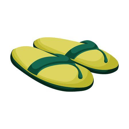 Sandale-Vektor-Symbol. Cartoon-Vektor-Symbol auf weißem Hintergrund Sandale isoliert.