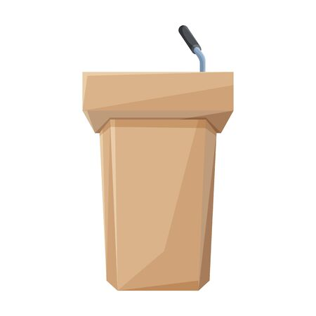 Podium of rostrum vector icon.Cartoon vector icon isolated on white background podium of rostrum.