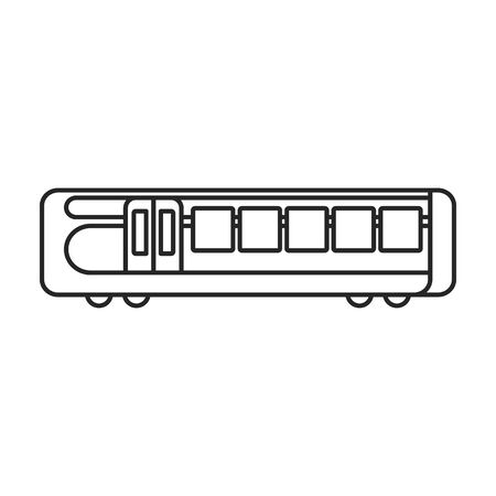 Train of metro vector icon.Line vector icon isolated on white background train of metro .