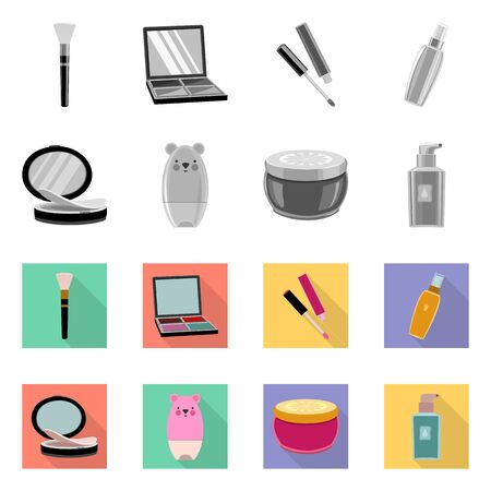 Vector design of makeup and product symbol. Collection of makeup and cosmetology stock vector illustration.