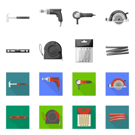 Vektordesign des Haushalts- und Reparatursymbols. Satz von Haushalts- und Überholungsaktiensymbolen für das Web.