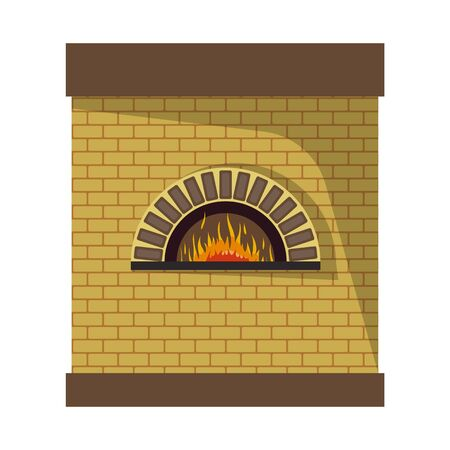 Vector design of oven and bread icon. Collection of oven and interior stock symbol for web.