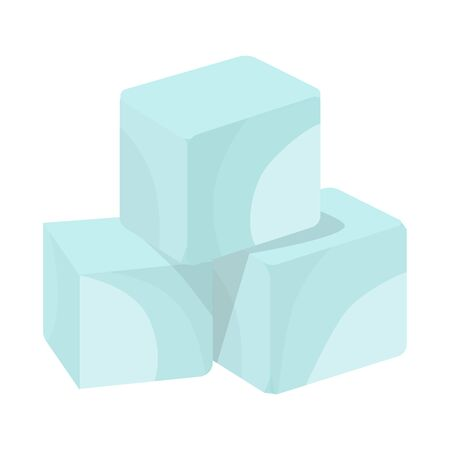 Isolated object of sugar and cube sign. Collection of sugar and diabetes stock symbol for web.