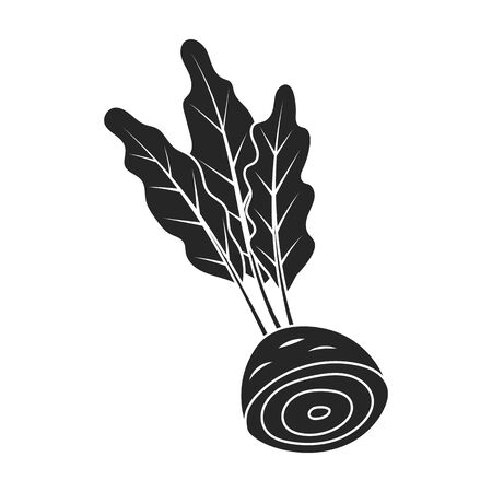 Beetroot vector icon.Black vector icon isolated on white background beetroot . Illustration