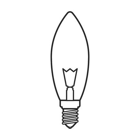 Lightbulb vector icon. Line vector icon isolated on white background lightbulb. Ilustração