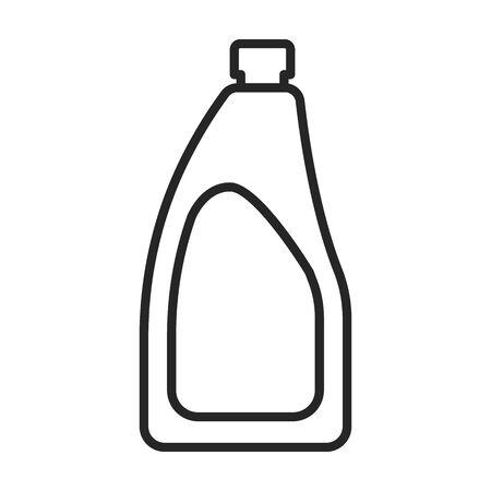 Icône de vecteur de produit propre. Icône de vecteur de ligne isolé sur fond blanc produit propre. Vecteurs