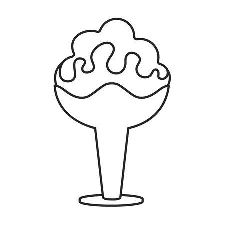 Ice cream vector icon.Line vector icon isolated on white background ice cream .