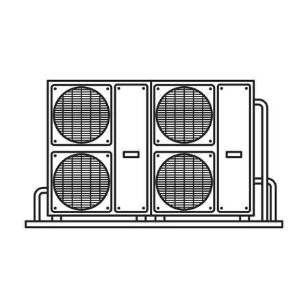 Ventilation vector icon.Line vector icon isolated on white background ventilation . Illustration
