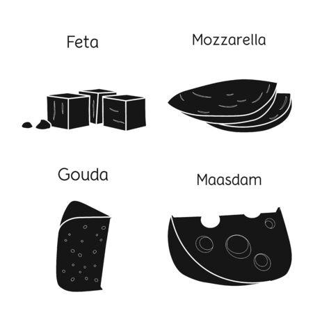 Vector design of breakfast and snack sign. Web element of breakfast and food stock vector illustration. Foto de archivo - 138155319