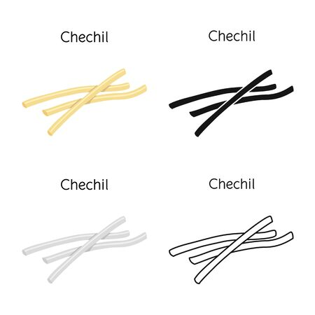 Vector design of chechil and cheese icon. Web element of chechil and meal vector icon for stock. Ilustracja
