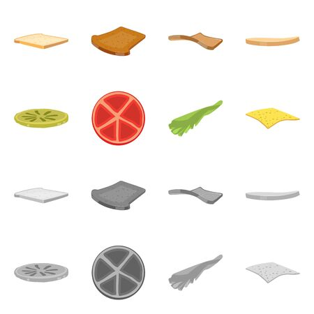 Isolated object of breakfast and delicious symbol. Set of breakfast and tasty stock symbol for web.