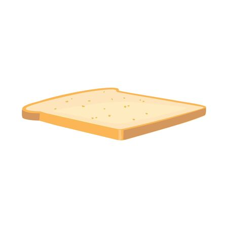Vector illustration of bread and toast sign. Graphic of bread and slice vector icon for stock.