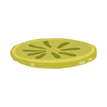 Vector design of cucumber and slice icon. Graphic of cucumber and pickle vector icon for stock. Ilustracja