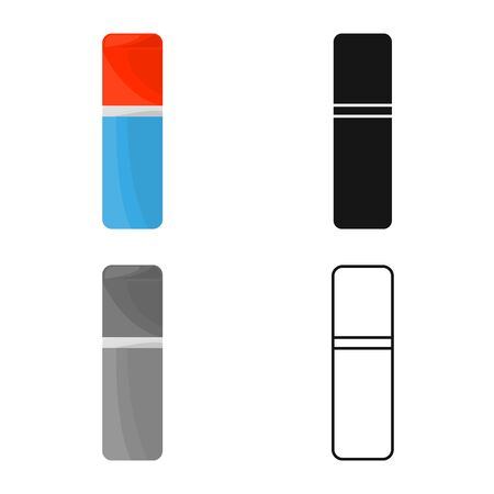Isolated object of eraser and rubber icon. Graphic of eraser and erase stock symbol for web. Ilustração