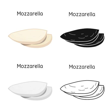 Vector design of cheese and mozzarella icon. Web element of cheese and piece stock vector illustration.
